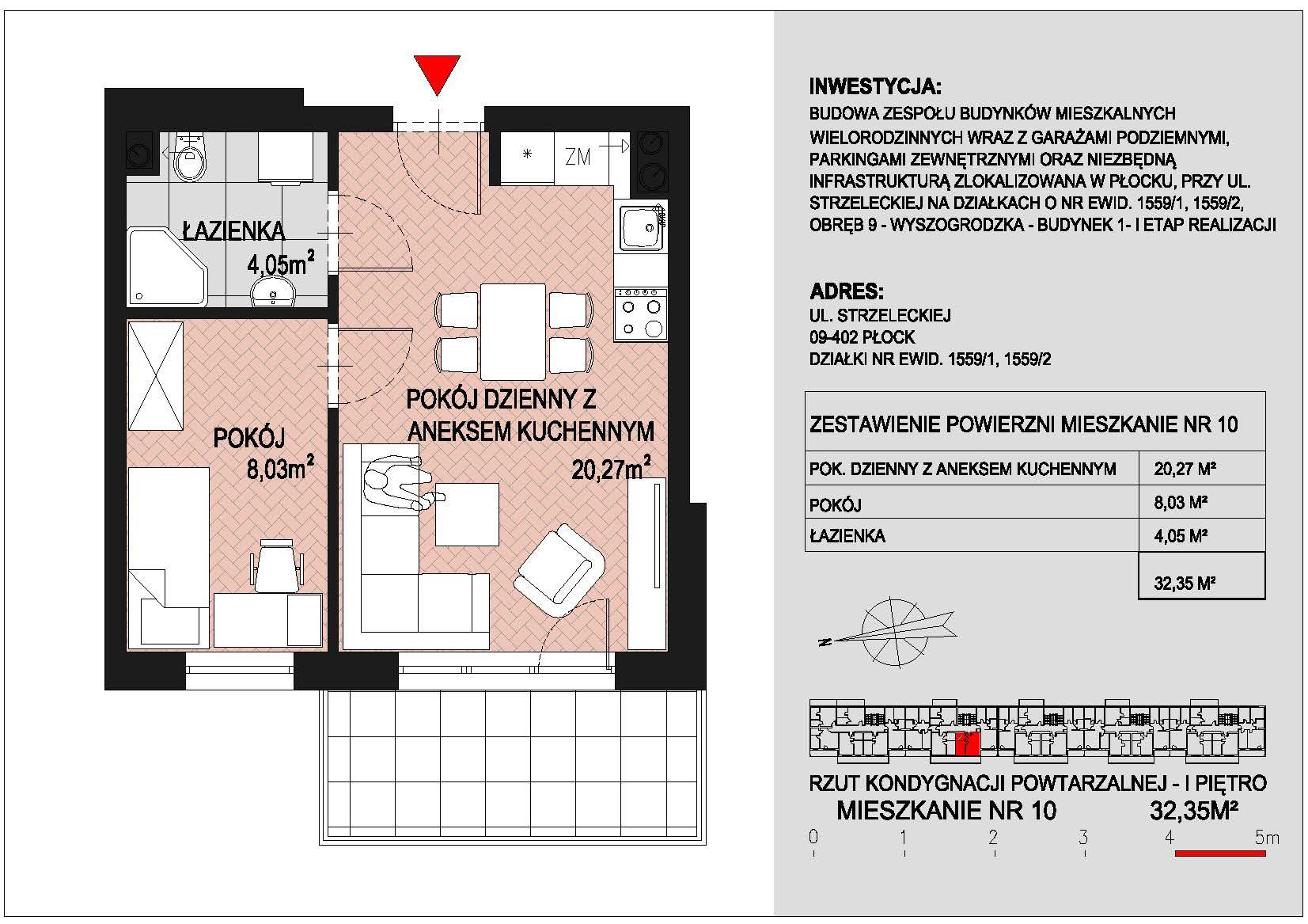mieszkanie nr 10 PIK Płock