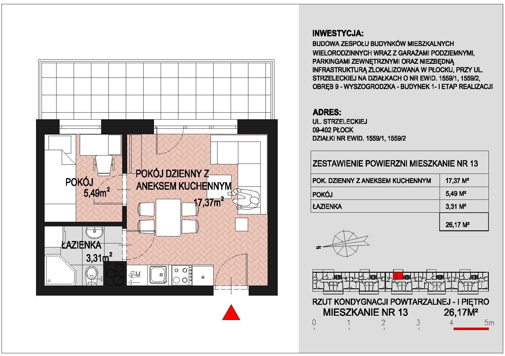 mieszkanie nr 13 PIK Płock