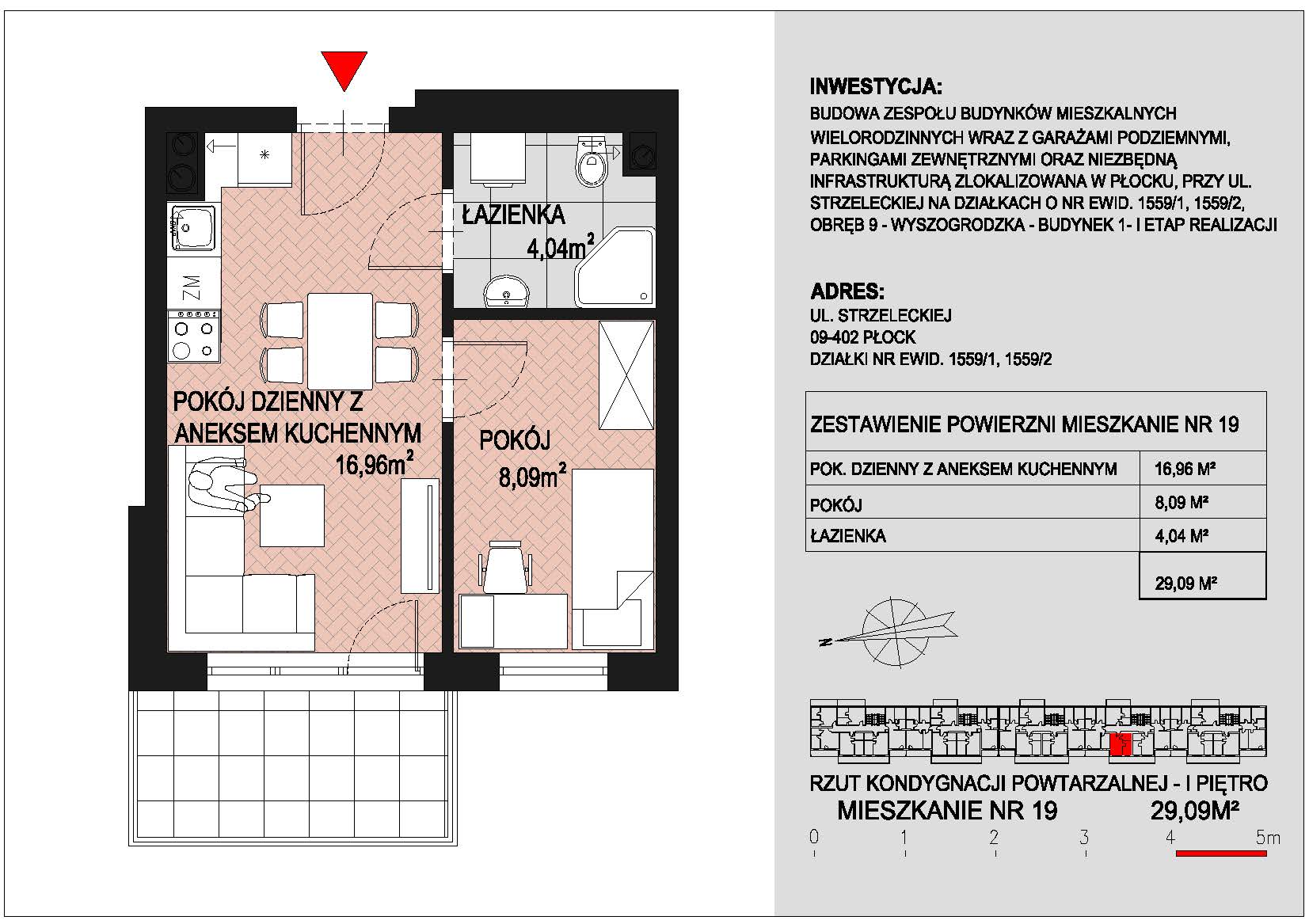 mieszkanie nr 19 PIK Płock
