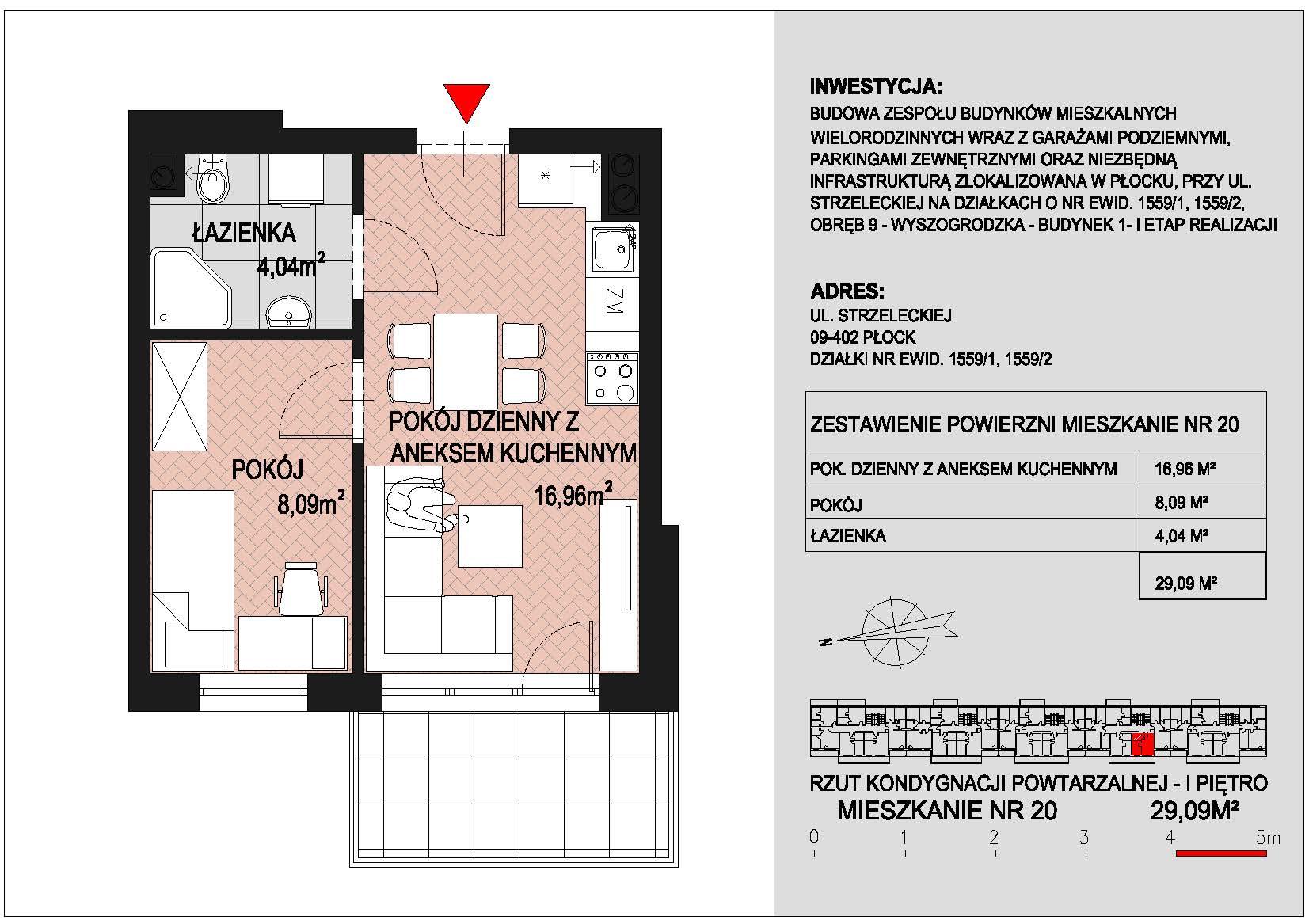 mieszkanie nr 20 PIK Płock