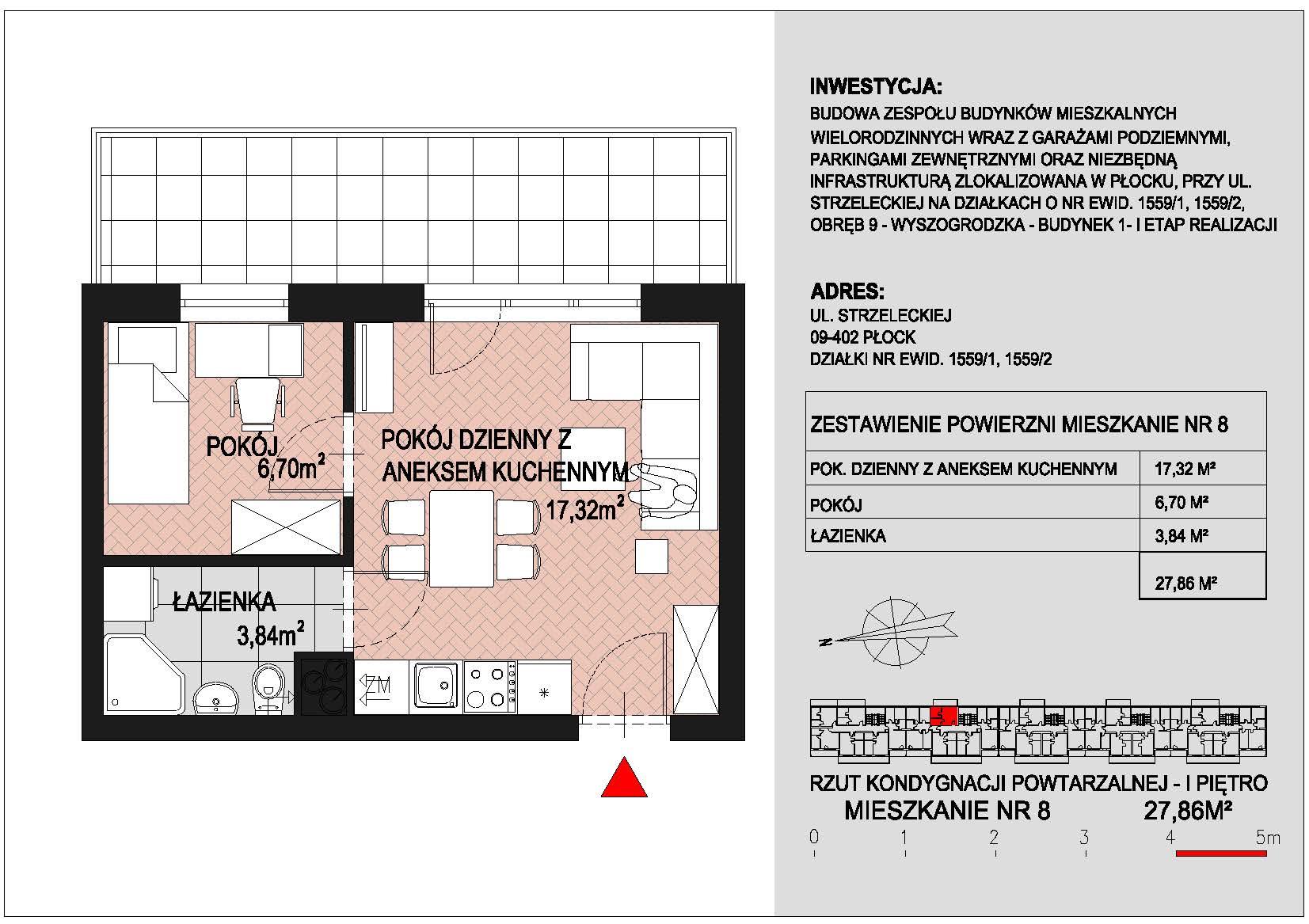 mieszkanie nr 8 PIK Płock